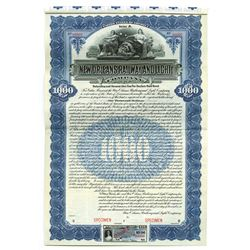 New Orleans Railway and Light Co., 1909 Specimen Bond
