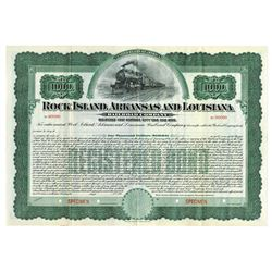 Rock Island, Arkansas and Louisiana Railroad 1906 Registered Specimen Bond.