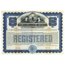 Rock Island, Arkansas and Louisiana Railroad Specimen Registered Bond. 1910.