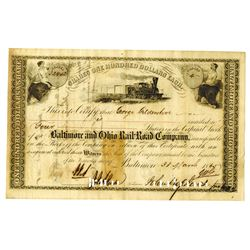 Baltimore & Ohio Rail Road Co., 1865 Issued Stock Certificate