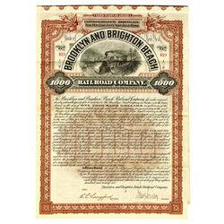 Brooklyn and Brighton Beach Railroad Co., 1896 Issued Bond