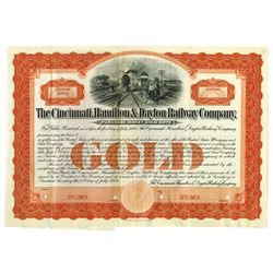 Cincinnati, Hamilton & Dayton Railway Co., 1904 Specimen Bond