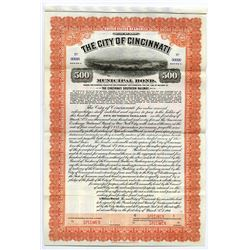 City of Cincinnati, 1916 Specimen Bond