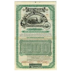 Texas, Sabine Valley and Northwestern Rail Way Co., 1888 Issued Bond