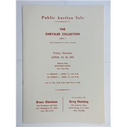 Chrysler Collection Auction Catalogue 1967