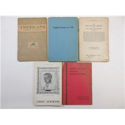 Collection of Auction Catalogues and Books