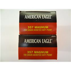 100 ROUNDS AE .357MAG 158 GRAIN JSP