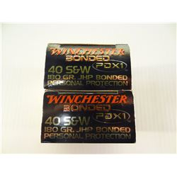 40 ROUNDS WINCHESTER PDX1 .40 S& W 180 GRAIN JHP