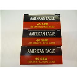 150 ROUNDS AE .40 S*W .180 GRAIN FMJ