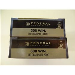40 ROUNDS FEDERAL .308 WIN 180 GR SP