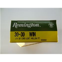 20 ROUNDS REMINGTON .30-30 WIN 170 GRAIN HP