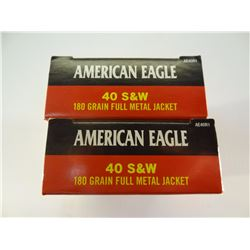 100 ROUNDS AE .40 S& W 180 GRAIN FMJ
