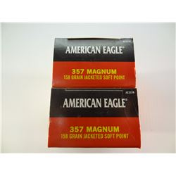 100 ROUNDS AE .357 MAG 158 GRAIN JSP