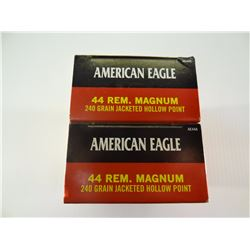 100 ROUNDS AE .44 REM MAG 240 GRAIN JHP