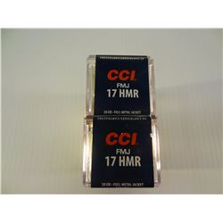 100 ROUNDS CCI 17HMR 20 GRAIN FMJ