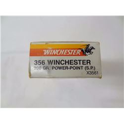 11 ROUNDS WINCHESTER 356 WIN ONCE FIRED BRASS