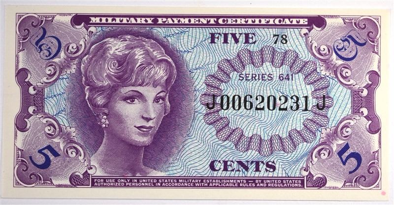 Series 641 Five Cents Military Payment Certificate