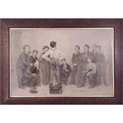after Charles Schlecht (1843-) American, THE SHOE-SHINE BOYS (after J. G. Brown), c. 1890, engr...