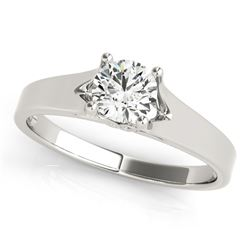 14K White Gold Round Prong Set Style Solitaire Diamond Engagement Ring (1/2 ct. tw.)