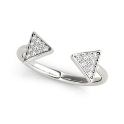 14K White Gold Diamond Arrowhead Open Ring (1/5 ct. tw.)