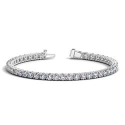 14K White Gold Round Diamond Tennis Bracelet (10 ct. tw.)