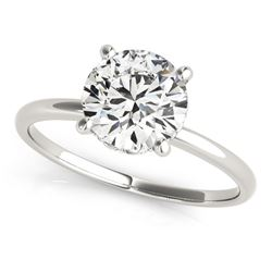 14K White Gold Prong Set Round Diamond Engagement Ring (2 ct. tw.)
