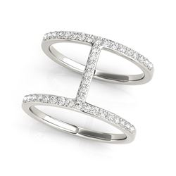 14K White Gold Dual Band Bridge Style Diamond Ring (3/8 ct. tw.)