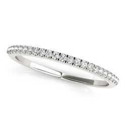 14K White Gold Classic Pave Set Diamond Wedding Band (1/8 ct. tw.)