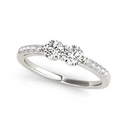 14K White Gold Two Stone Round Diamond Ring (5/8 ct. tw.)