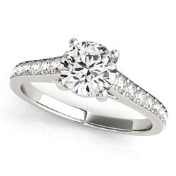 14K White Gold Graduated Single Row Round Diamond Engagement Ring (1 1/3 ct. tw.)