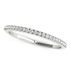 14K White Gold Scallop Style Setting Diamond Wedding Band (1/8 ct. tw.)