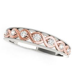 14K White And Rose Gold Infity Diamond Wedding Band (1/8 ct. tw.)