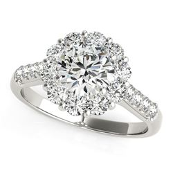 14K White Gold Round Diamond Halo Engagement Ring (2 1/2 ct. tw.)