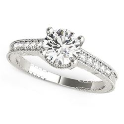 14K White Gold Round Antique Style Diamond Engagement Ring (1 1/8 ct. tw.)