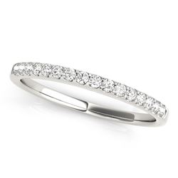 14K White Gold Diamond Scalloped Set Wedding Band (1/6 ct. tw.)