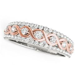 14K White And Rose Gold Infinity Diamond Band (3/8 ct. tw.)