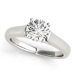 14K White Gold Round Cut Cathedral Design Solitaire Diamond Engagement Ring (1 ct. tw.)