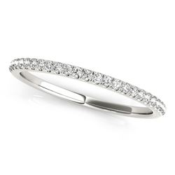 14K White Gold Round Diamond Pave Set Wedding Band (1/8 ct. tw.)