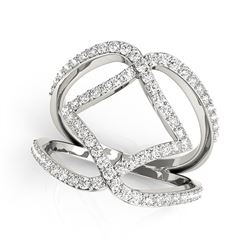 14K White Gold Entwined Design Diamond Dual Band Ring (3/4 ct. tw.)