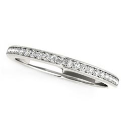 14K White Gold Classic Style Diamond Wedding Band (1/5 ct. tw.)