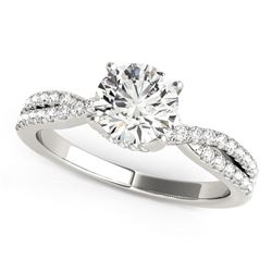 14K White Gold Fancy Prong Split Shank Diamond Engagement Ring (1 1/4 ct. tw.)