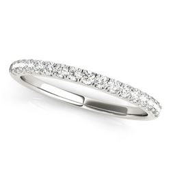 14K White Gold Diamond Scallop Setting Wedding Band (1/3 ct. tw.)