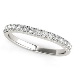 14K White Gold Pave Set Style Diamond Wedding Band (1/4 ct. tw.)