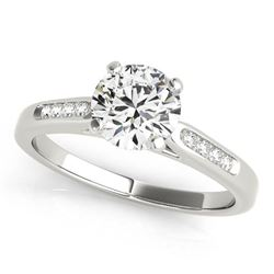 14K White Gold Single Row Diamond Engagement Ring (1 ct. tw.)