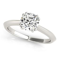 14K White Gold Double Prong Set Solitaire Diamond Engagement Ring (1 ct. tw.)