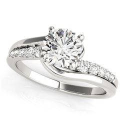 14K White Gold Bypass Style Round Diamond Ring (1 1/4 ct. tw.)