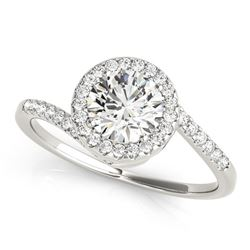 14K White Gold Halo Design Bypass Round Diamond Engagement Ring (5/8 ct. tw.)