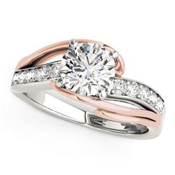 14K White And Rose Gold Bypass Round Split Shank Diamond Engagement Ring (1 1/8 ct. tw.)
