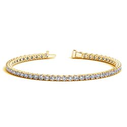 14K Yellow Gold Round Diamond Tennis Bracelet (5 ct. tw.)