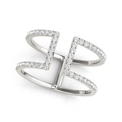 14K White Gold Modern Dual Band Style Diamond Ring (1/2 ct. tw.)